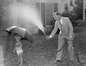Sprinkler hose - let your employers have fun with summer with flex time, picnics, etc