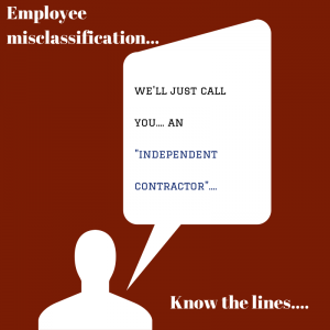 independent contractor misclassificaiton