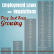Lists of employment laws over the past 110 years with title - Employment Laws and regulations, they keep growing.
