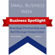Banner - Small Business Week - Business Spotlight - Standage Partnership and SelfStorage Corporation