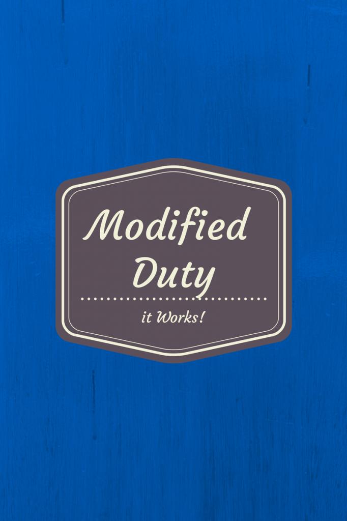 modifed duty