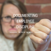 Woman with a frown face with her thumb pointing down - documenting employee discipline HR tip of the week