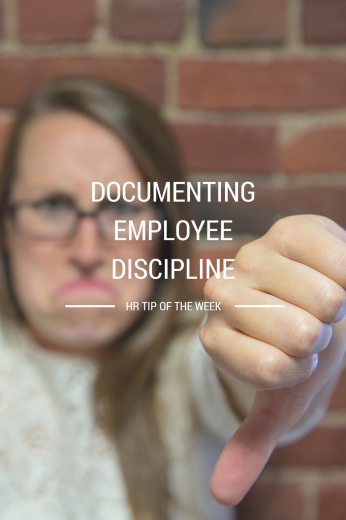 DOCUMENTING EMPLOYEE DISCIPLINE