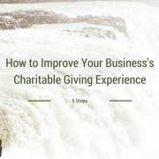 Waterfall title - How to improve your business's charitable giving experience