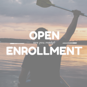 Person in a canoe, holding up an oar, title - Open enrollment, are you ready?