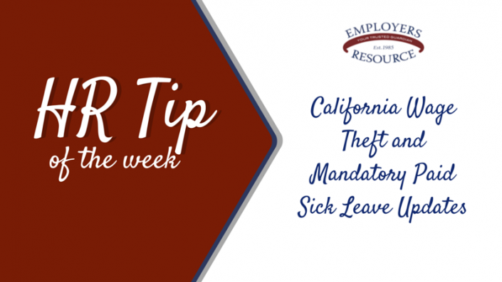 Benner with ERM logo and title - Ca Updates Theft And Mandatory Paid Sick Leave