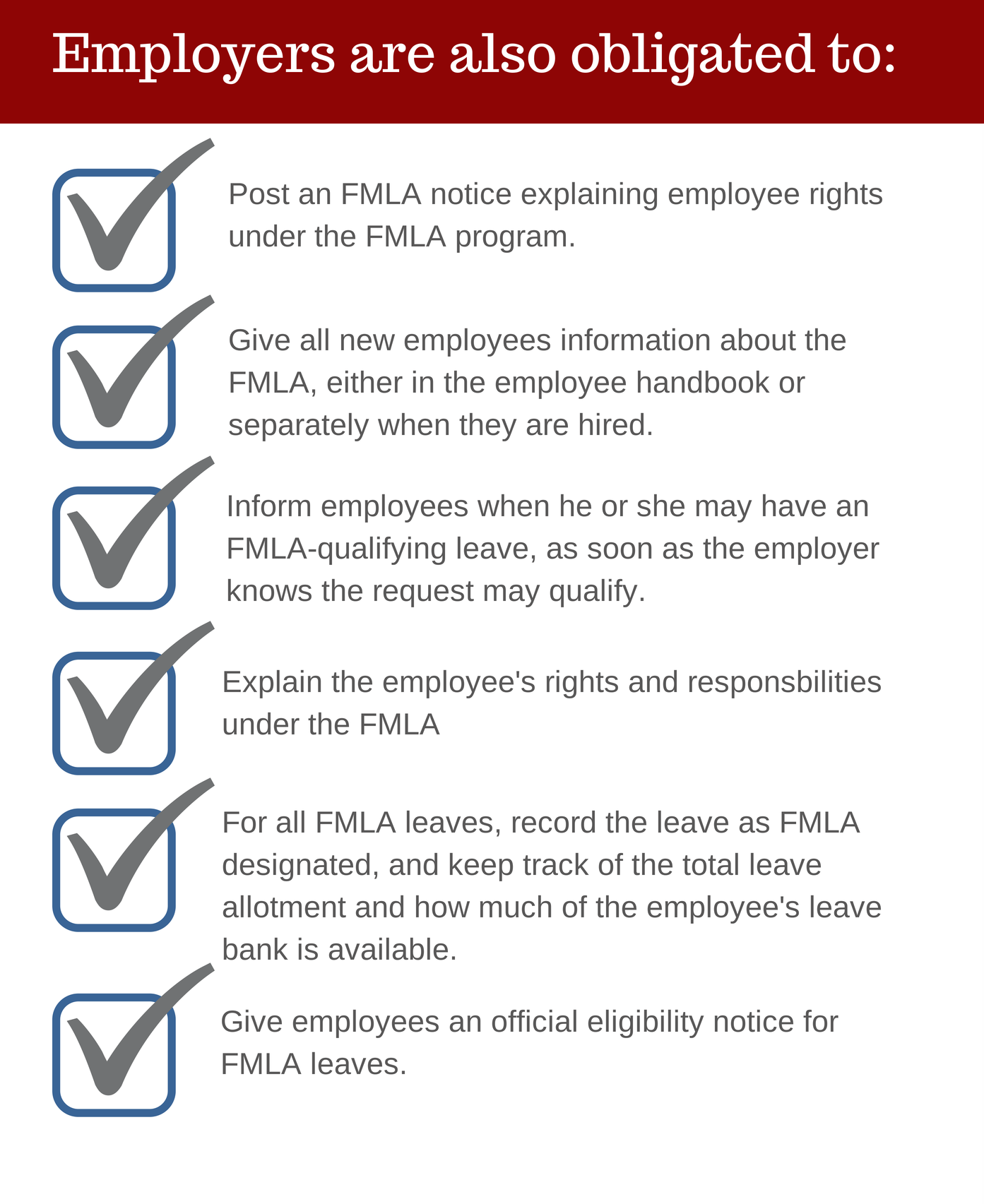 Employer FMLA obligations