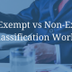 How Exempt vs Non-Exempt Classification Works