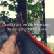 A persons feet, in a hammock with title - Manager Of Employment Makes Employee Details Easy