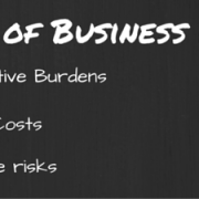 Image of the ABC's of Business Protection. A - Administrative Burdens, B - Business Costs, C - Compliance risks