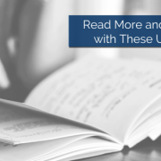 An open book on a table with title - Read More And Succeed With These Userful Tips