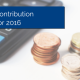 Calculator with coins stacked up next to it and title - 401k Contribution Limits 2016