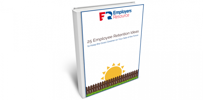 Book with 25 Employee Retention Ideas on cover