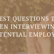 sepia tone picture with woman speaking on phone, text says the best questions to ask when interviewing a potential employee
