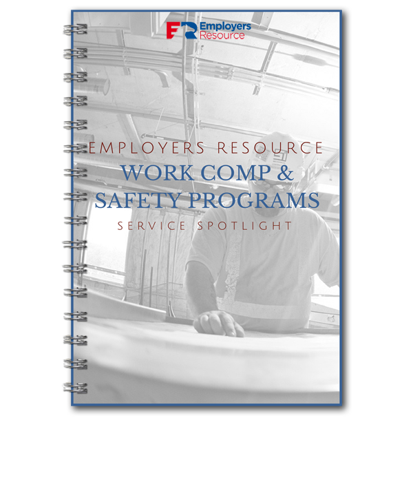 Spiral book with work comp and safety program spotlight on cover