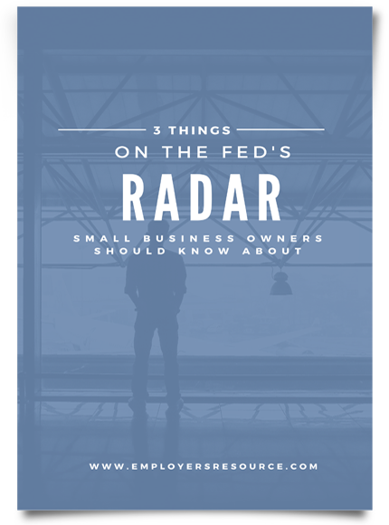 Piece of paper with 3 Things On The Feds Radar Whitepaper on front