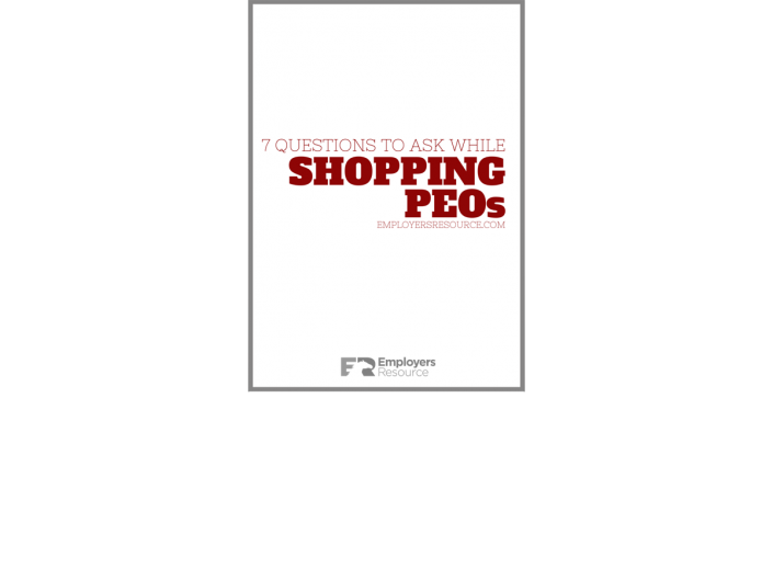 Book with 7 questions when shopping for a peo cover