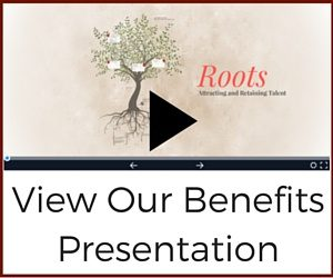 Image of the prezi with a play button and title - View our benefits presentation