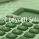 Types of Payroll Solutions