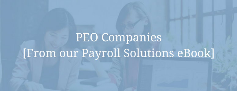 PEO Companies [From our Payroll Solutions eBook] featured