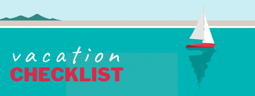 vacation checklist banner image